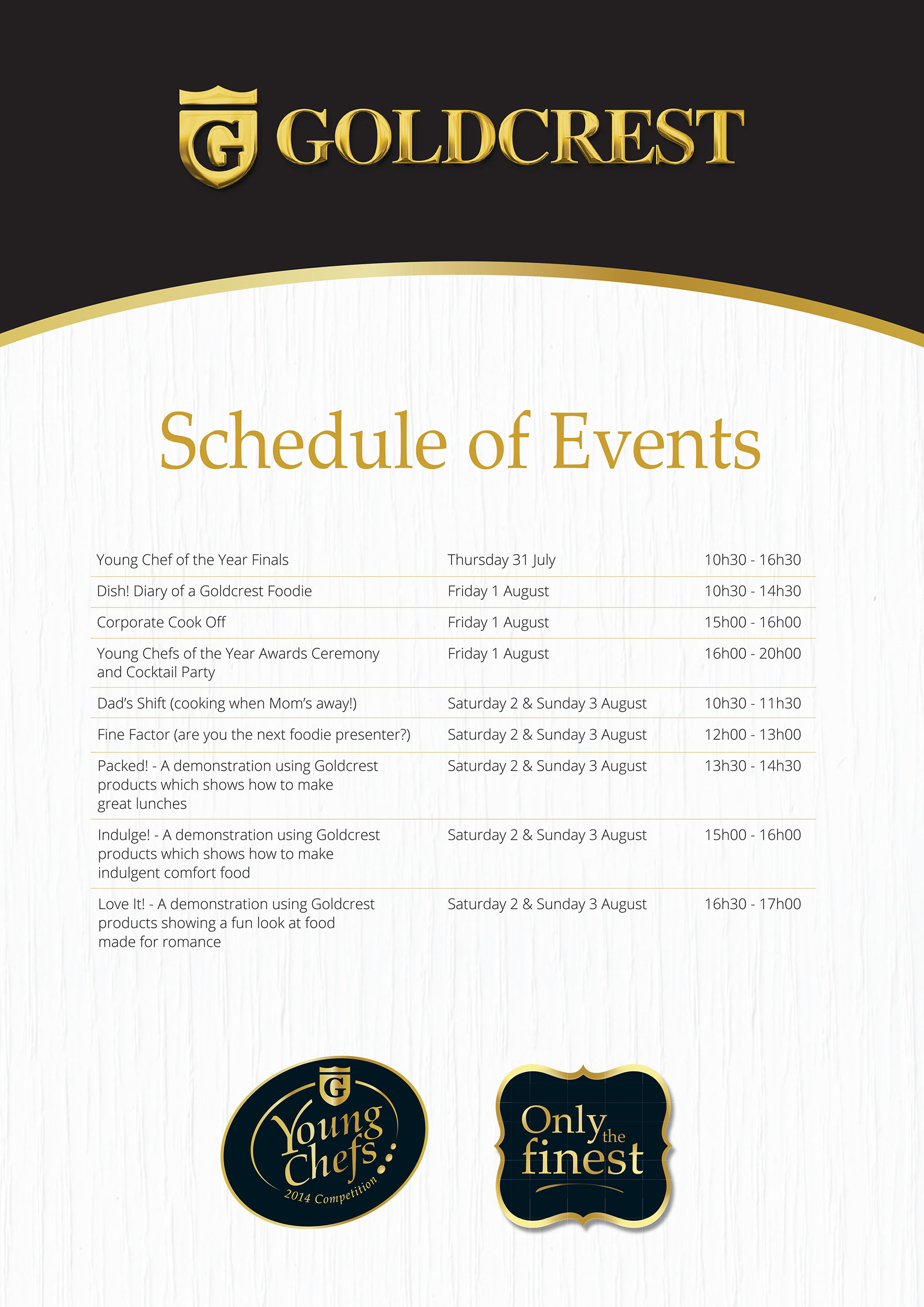 18151 Good Food & Wine Show Schedule of Events R Paths